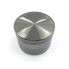 Broyeur à base de plantes en métal plaqué chrome pour concasseur de cigares Hooka (ES-GD-011-L)