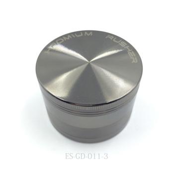 Chrome Plated Metal Herbal Grinder for Hooka Cigar Crusher (ES-GD-011-L)
