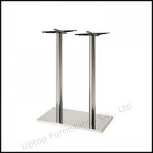 Две колонны из нержавеющей стали прямоугольник бар таблицы базы (СП-STL058)