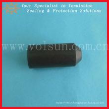With glue plastic heat shrink cap seal