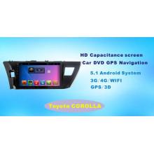 Android System Car GPS DVD para Toyota Corolla 10,1 pulgadas de pantalla táctil con Bluetooth / TV / MP4