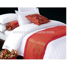 Listrado hotel uso cobrir cama edredão cama conjunto 1cm 2cm listra