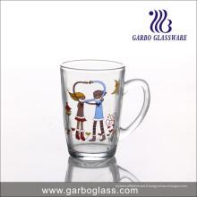 Tasse en verre de bonhomme de neige promotionnelle de Noël