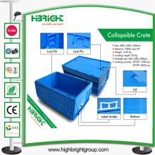 Caixa de recipiente empilhável de armazenamento industrial