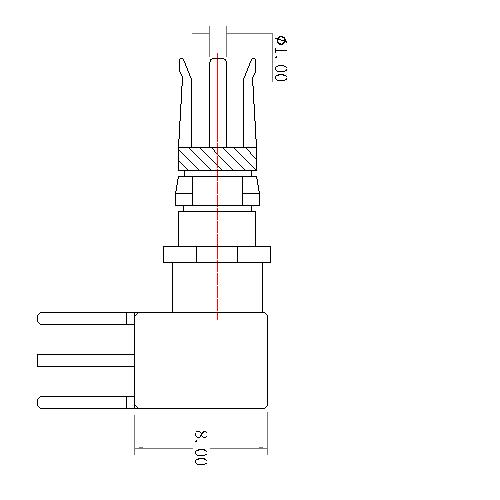 CP11F-11X 20 POWER PIN STRAIGHT FEMALE CONTACT 75Ω(work in coaxial)