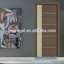 Puertas de madera de melamina de dormitorios HDF de grado duro