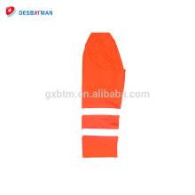 en 20471 pantalones de trabajo naranja con pantalón de seguridad de rayas reflectantes