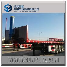 40 Ft 3axle Container Flatbed Dump Semi-remorque
