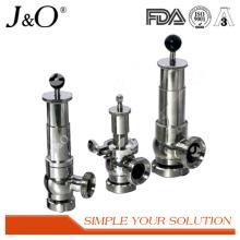 Válvula de segurança de alívio de aço inoxidável sanitário