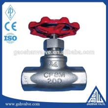 Запорный клапан с резьбой из нержавеющей стали cf8m