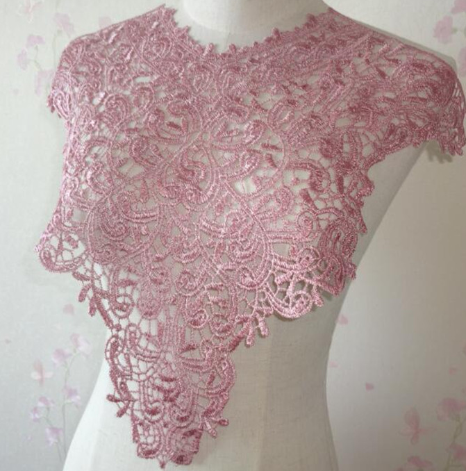 Embroidery lace collar