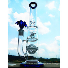 K-48 16inch 50diameter 5thickness Beaker Base 7mm Honeycomb Disc Perc to Showerhead Glass Smoking Water Pipe