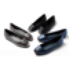 Boa qualidade senhora lazer sapato moda quadrados metal toe acolchoado PU couro mulheres sapato