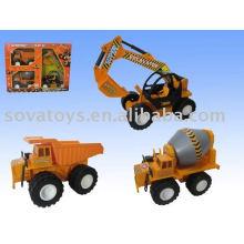 Construção conjunto modelo caminhões brinquedo