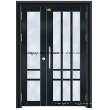 Isreal Color Project Steel Security Entrance Metal Glass Door (W-GD-10)
