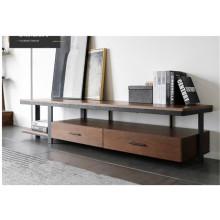 TV-Ständer aus Metall und Holz