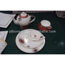 Placa de cena de cerámica de China de hueso del pote del disco de Oriente Medio del oro pesado de la nueva llegada