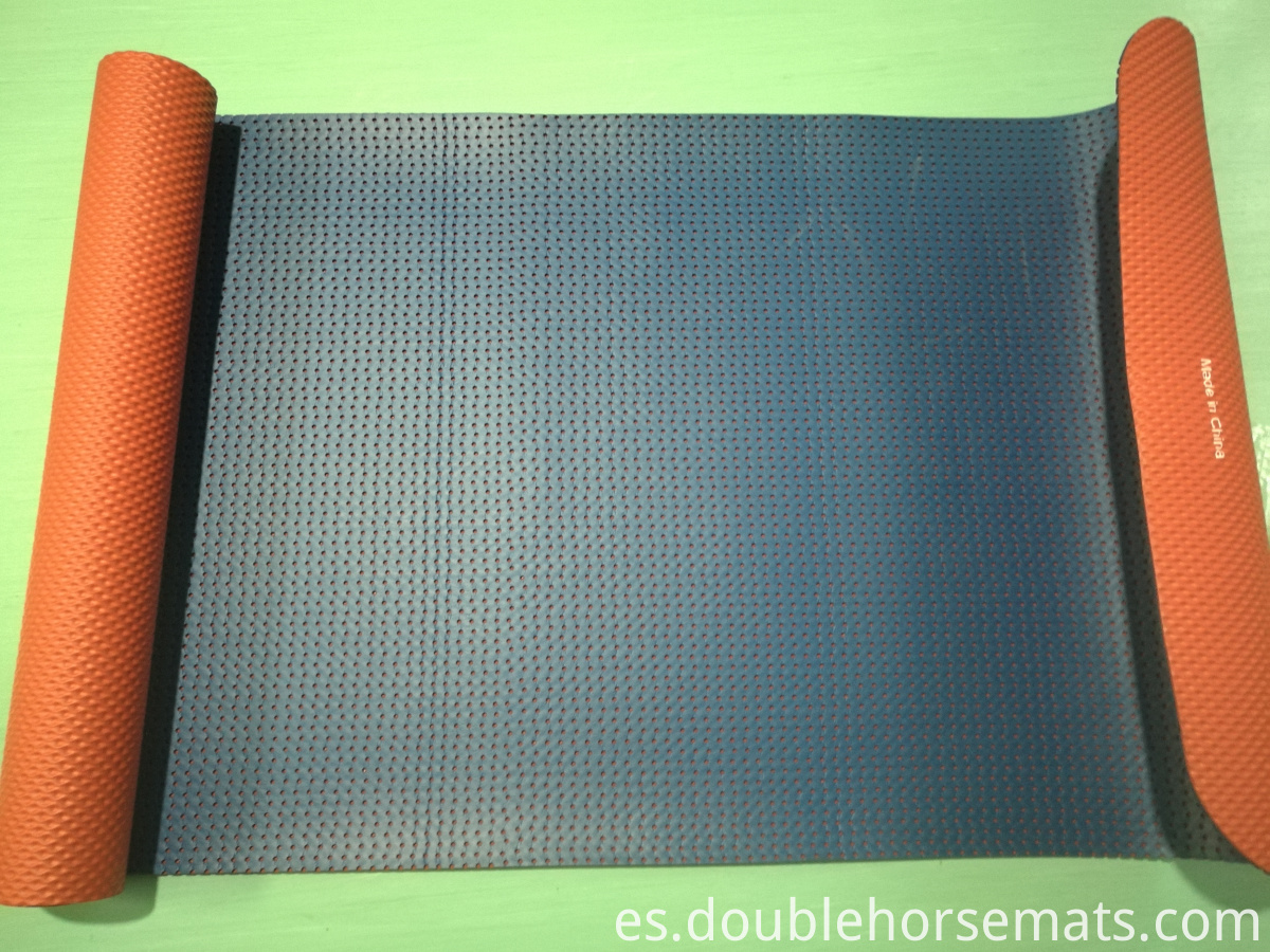 NBR double color punching exercise mat