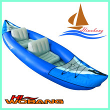 Caiaque inflável barato, caiaque duplo, barco de pesca de plástico