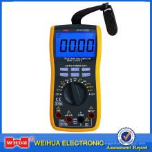 Multímetro digital con voltaje de la batería medida WH5000B