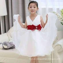 2016 Billig weichen Tüll chic weißen Mädchen Hochzeitsfest Kleid Blumenmädchen Kleid Geburtstag Kleider mit schönen Form