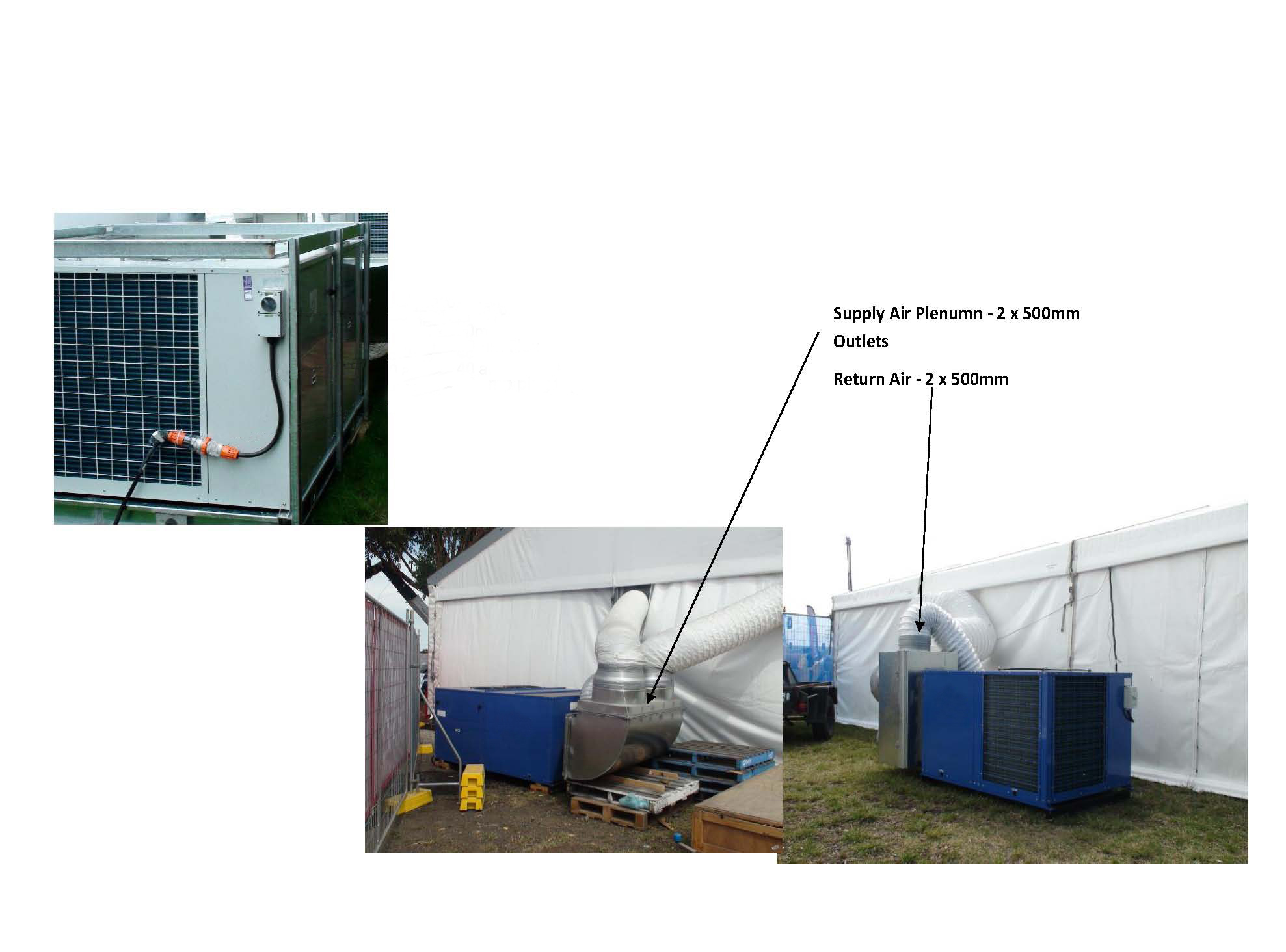 Installation of Portable Tent Packaged Air Conditioner