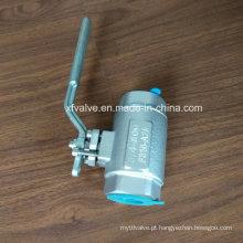 O ANSI forjou a válvula de bola de aço inoxidável do NPT da extremidade da linha F316