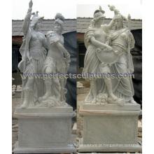 Estátua de pedra esculpida para a escultura de mármore do jardim (SY-X1437AB)