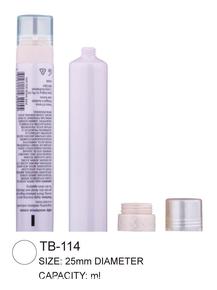 2 in 1 plastic tube
