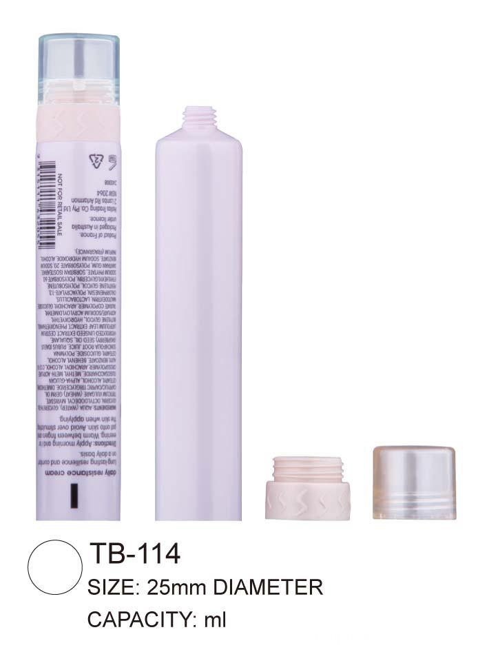 2 in 1 plastic tube