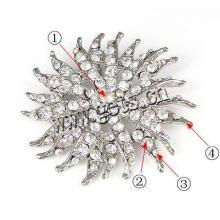 Gets.com aleación de zinc perla de cristal rhinestone para ramo de boda