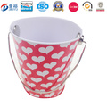 Tin Bucket with Lid and Handle Good Sealing for Candy