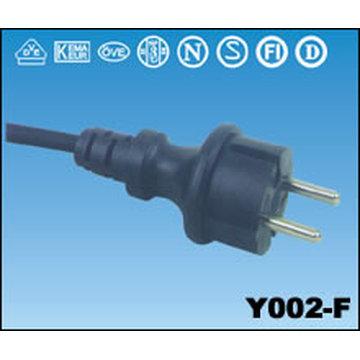 Y002-F Type European VDE Power Cord