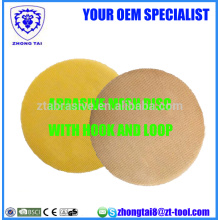 Abrasive Round Mesh With Hook and Loop