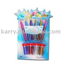 New School Supplies Glitter Kleber Set