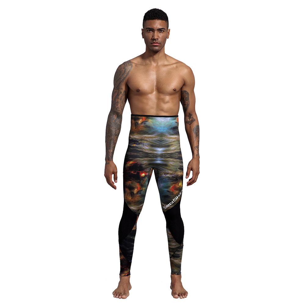 Seaskin Two Pieces Camouflage Wetsuit
