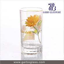 7oz Daisy Printed Glass Water Cup