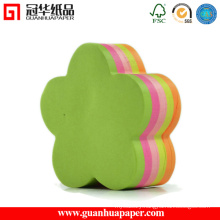 Best Selling Flower Shaped Note Paper with Logo Printed