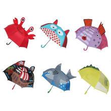 Promotional Custom Cartoon Cute Print Fashion Outdoor Use Animal Shape Ear Kid Child Rain Umbrella with Logo