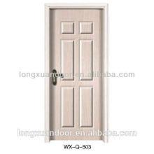 Conception moderne de porte en bois, porte en bois en MDF / porte intérieure en mélamine