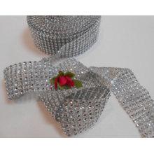 Мода Серебряный цвет Декоративные сетки ленты Горячие Diamante Стиль ленты Wrap Crafting Люкс