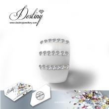 Destino joias cristais Swarovski anel novos anéis de cerâmica