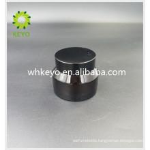 30g amber glass jar cosmetic jar for facial cream with aluminum cap