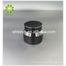 Frasco cosmético do frasco 30g de vidro ambarino para o creme facial com tampão de alumínio