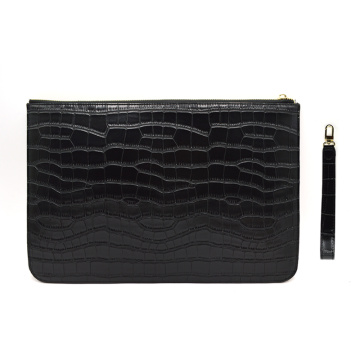 Crocodile Print Black Croc Style Party Party Bag