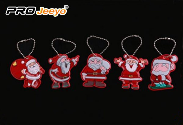 Reflective Leather Santa Claus with Gifts Bag Pendant RV-213A 4