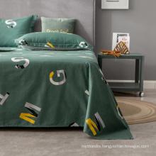 Luxurious Bedsheet Good Quality Comfortable Fade Queen Dark Green Bedding Set