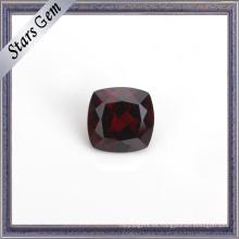Cojín de granate natural de color rojo oscuro para la joyería