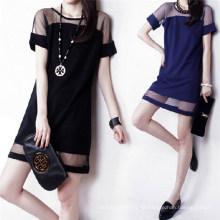 2015 Sommer elegante Frauen Casual Chiffon Minikleid