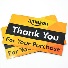Recycled 400GSM Paper Business Custom Thank You Card with Your Own Design Printing